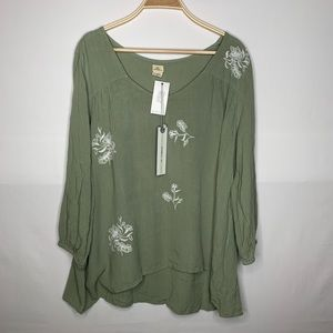 •women's• Beautiful Olive color O'Neill top L